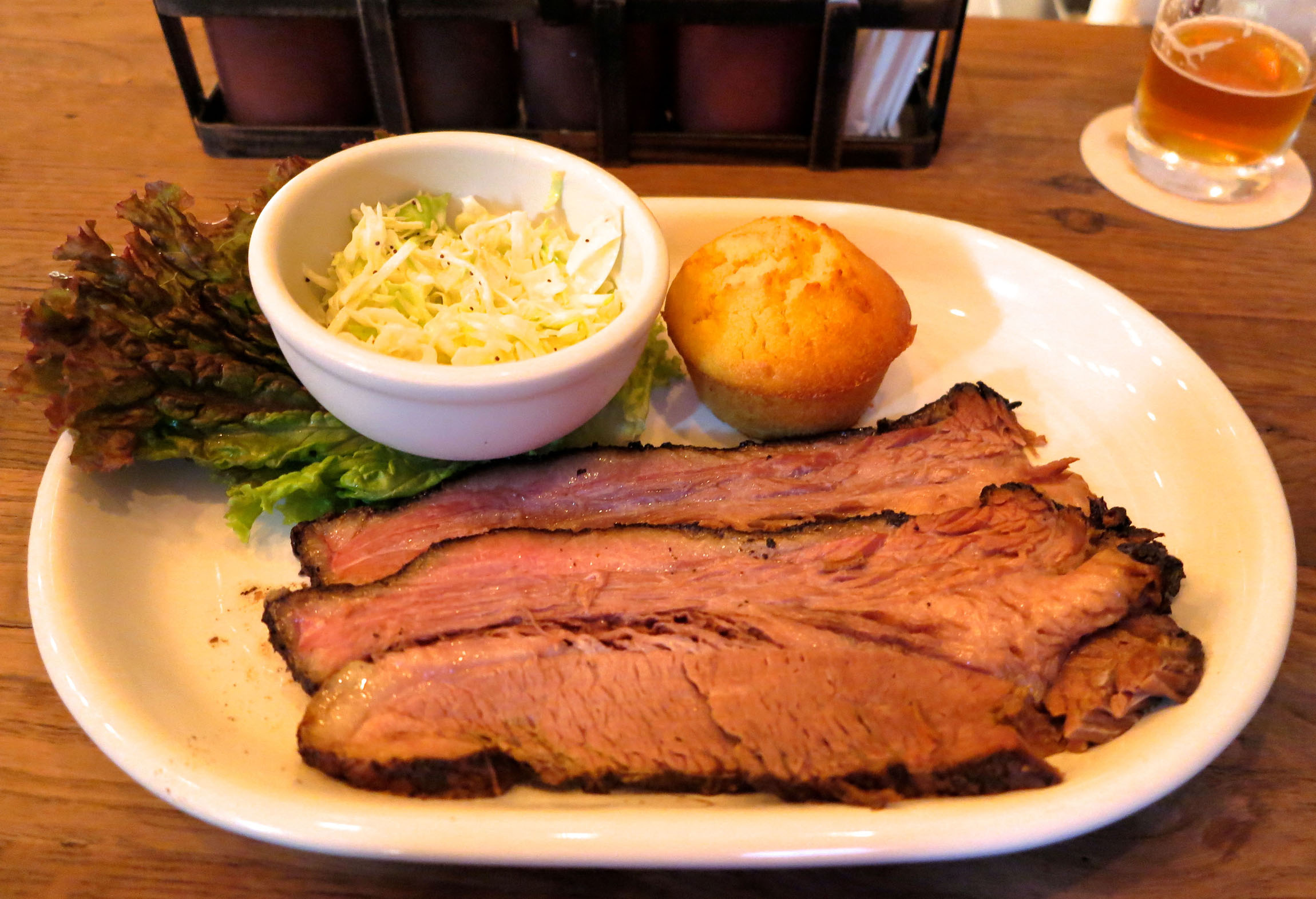 For those who wait: Smokehouse, a new restaurant from T.Y. Harbor Brewing in the Harajuku/Omotesando area, offers slow-cooked barbecue fare such as this brisket.   ROBBIE SWINNERTON