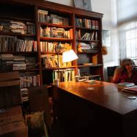 In her realm: Field packs up her office at the University of Chicago shortly before her retirement. | DREUX RICHARD