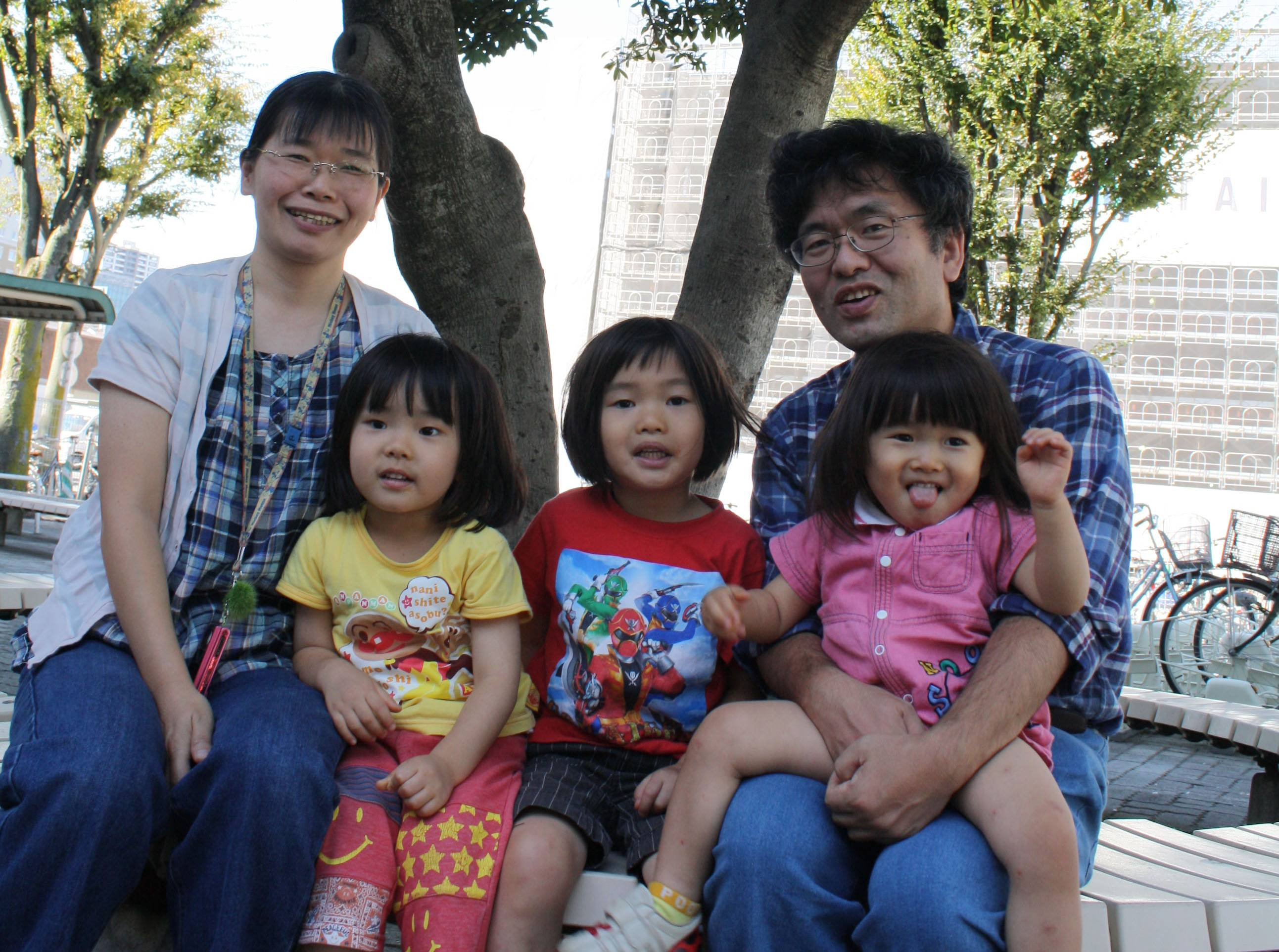 Home away from home: The Segawa family has only spent weekends together since Yuki left Koriyama, Fukushima Prefecture, with her three children in June 2012. | JUN HONGO