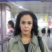 Sakura Tsuchihashi, Housewife, 35 (Venezuelan): More menus should be translated into English and more English training for staff would be a start. But really, there should be more information available in other languages.  There's Chinese and English now, but information in more languages is necessary.