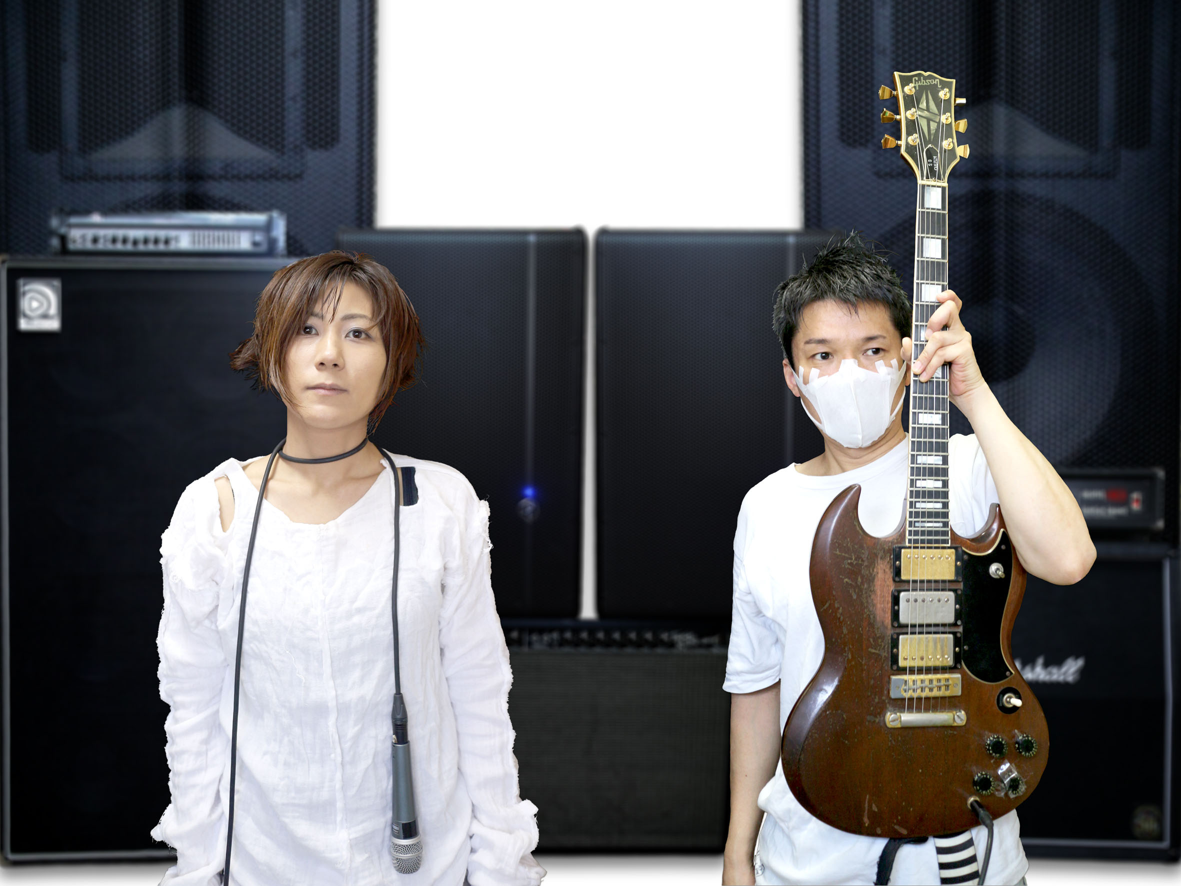 Make some noise: Yasuko 'Yako' Onuki (left) and Ichiro Agata comprise the band Melt-Banana. The two will head to North America this month to tour in support of latest album, 'Fetch.'