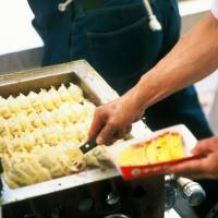 Cheap and tasty: Gyōza are served at Utsunomiya's annual dumpling festival.