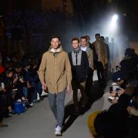 The other runway: Models march down the runway for the Discovered brand at a previous Shibuya Fashion Festival.   SAMUEL THOMAS