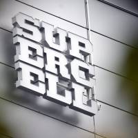 Super sale: The logo of Finnish computer game maker Supercell is pictured at the company's head office in Helsinki on Tuesday. Two Japanese investors, Softbank Corp. and GungHo Entertainment Inc., have bought control of Supercell for €1.1 billion ($1.5 billion). | AFP-JIJI