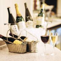 Selected wines will be available at cocktail time.