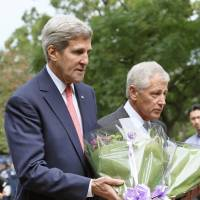 Kerry, Hagel visit Chidorigafuchi to diminish Yasukuni