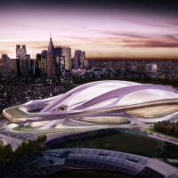 Size issues: The winning design for the main 2020 Olympic stadium is being criticized by Japanese architects as too big. | TOKYO 2020