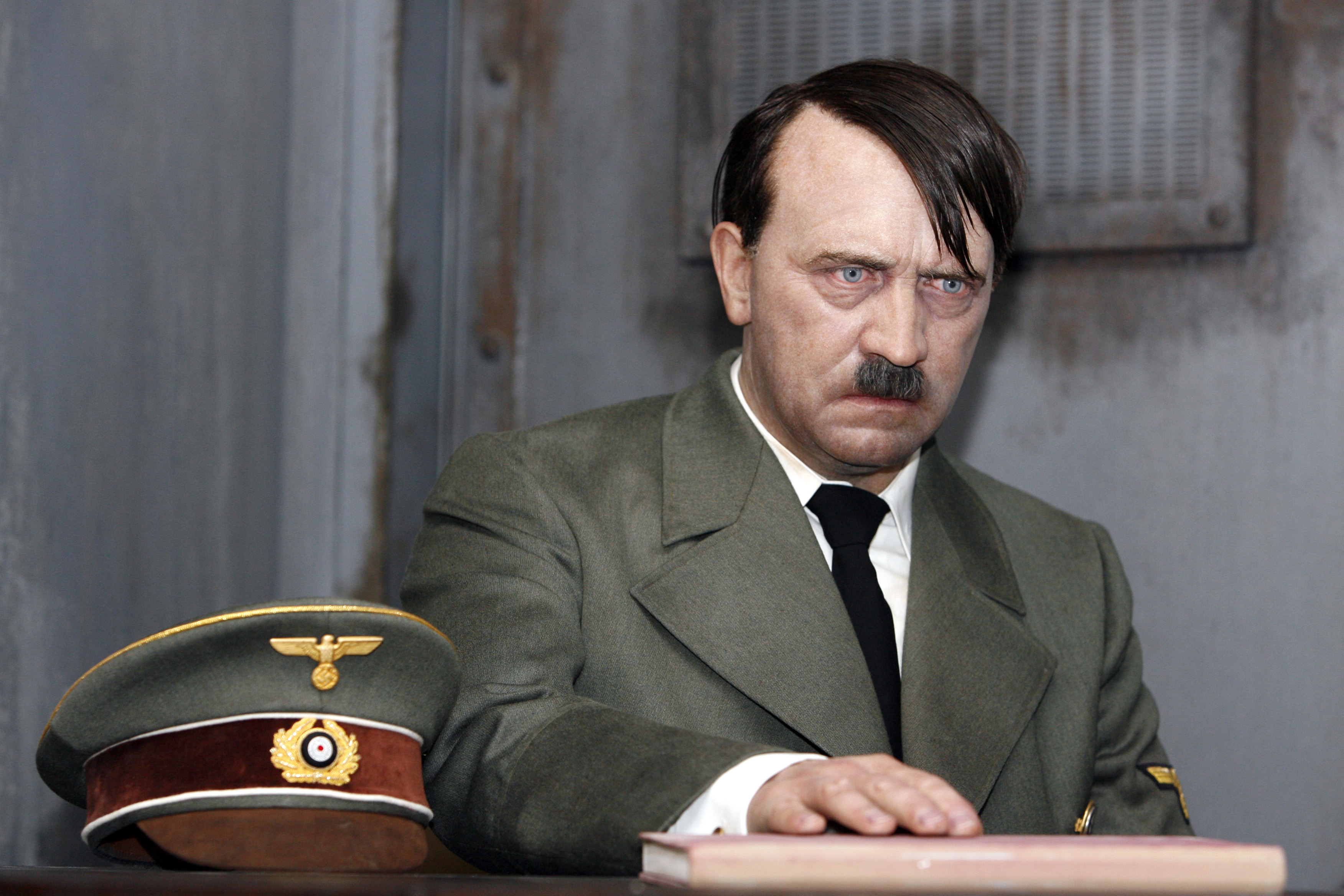 Escaping notice: A wax figure of Nazi dictator Adolf Hitler is displayed at Madame Tussauds prior to the exhibition's July 2008 public opening in Berlin | BLOOMBERG