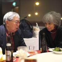 'Discovering family you didn't know existed': Field talks with Katsuo Terai, chairman of the Takiji-sai, at the Hotel Nord Otaru in February.  | DREUX RICHARD