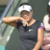 Disappointing end: Kurumi Nara dropped her Japan Women's Open semifinal match on Saturday, losing 6-2, 6-2 to Eugenie Bouchard in Osaka. | KYODO