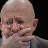 Spymaster: Director of National Intelligence James Clapper testifies before the House Select Intelligence Committee on potential changes to the Foreign Intelligence Surveillance Act on Capitol Hill in Washington on Tuesday | AFP-JIJI