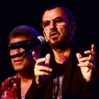 All Starr lineup: Former Beatle Ringo Starr responds to questions with members of his All Starr Band of aging rockers Wednesday in Hollywood, Los Angeles, to promote an upcoming South America tour. Starr joked that he would welcome playing with former band mate Paul McCartney again, but only if the group was called Ringo's | AFP-JIJI