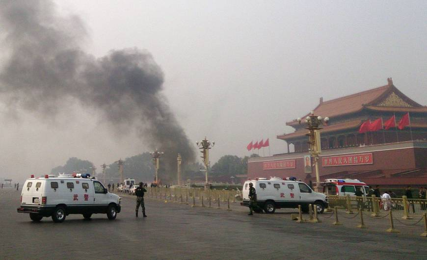 Chinese police arrest five Muslims in Tiananmen Gate attack