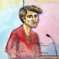 Busted: An artist rendering of Ross William Ulbricht appearing in Federal Court in San Francisco on Oct. 4. Ulbricht is being charged as the mastermind of Silk Road, a 'dark net' website where users could shop for illegal drugs anonymously. | AP