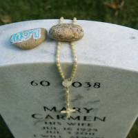 For the fallen: Mementos adorn a grave in Arlington Cemetery's Section 60, which is dominated by the Afghan and Iraq war dead, although deceased veterans from World War II, Korea and Vietnam are still being buried there.   THE WASHINGTON POST