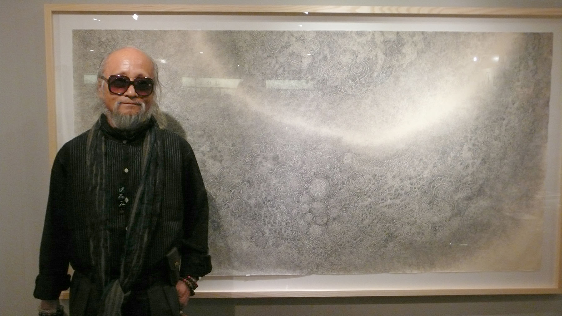 Outsider: Hiroyuki Doi draws tiny circles in patterns that ultimately resemble celestial constellations or billowing cloud formations. | EDWARD M. GOMEZ