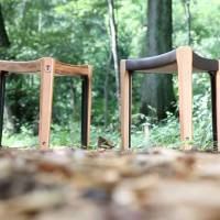 Some of that timber made into fine furniture by Okamura Corp.   CONAN MORIMOTO PHOTO