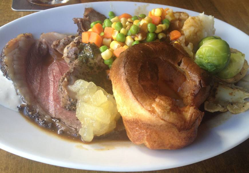 Dig into 400 years of local history with a roast beef dinner