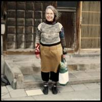 Noriko, 63, housewife: 'Struggling in the cold wind, her groceries in her bag, Noriko was going home. There was something about her, an aura that I sensed. When I saw her smile, I knew straightaway that I was right. A beautiful smile was on her face and she was ready to give me directions. When she realized that I wasn't lost, she produced an even more beautiful smile.'   CEDRIC RIVEAU
