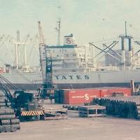 Poison cargo: Ships offload supplies in 1969 during the Vietnam War at Naha Military Port. | COURTESY OF MICHAEL JONES