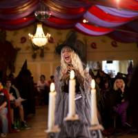 Spellbound: An aspiring witch auditions to work as the resident witch at the Wookey Hole Caves tourist attraction in Wookey Hole, Somerset, England. | AP