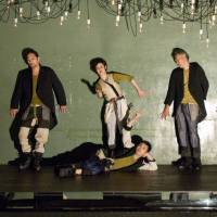 Fragments: The cast in the Chiten company's production of 'Fatzer' at its subterranean Underthrow venue in Kyoto 'distance' themselves from one and all. | HISAKI MATSUMOTO