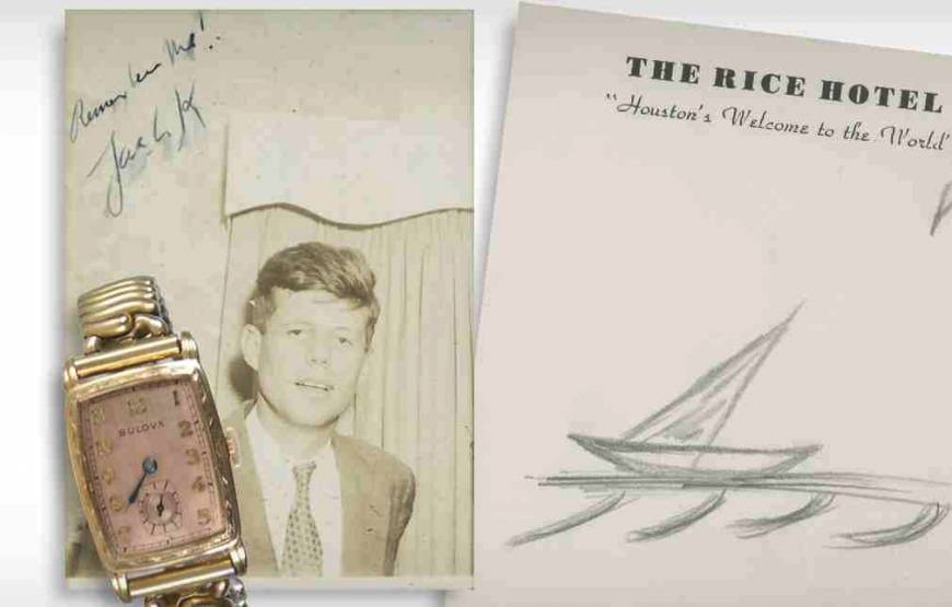 JFK's last sketch, other items goes up for auction
