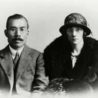 Grand spirits: An undated portrait shows Nikka Whisky founder Masataka Taketsuru and his wife, Rita, whose lives will be the basis for an NHK morning drama | NIKKA WHISKY/ASAHI BREWERIES