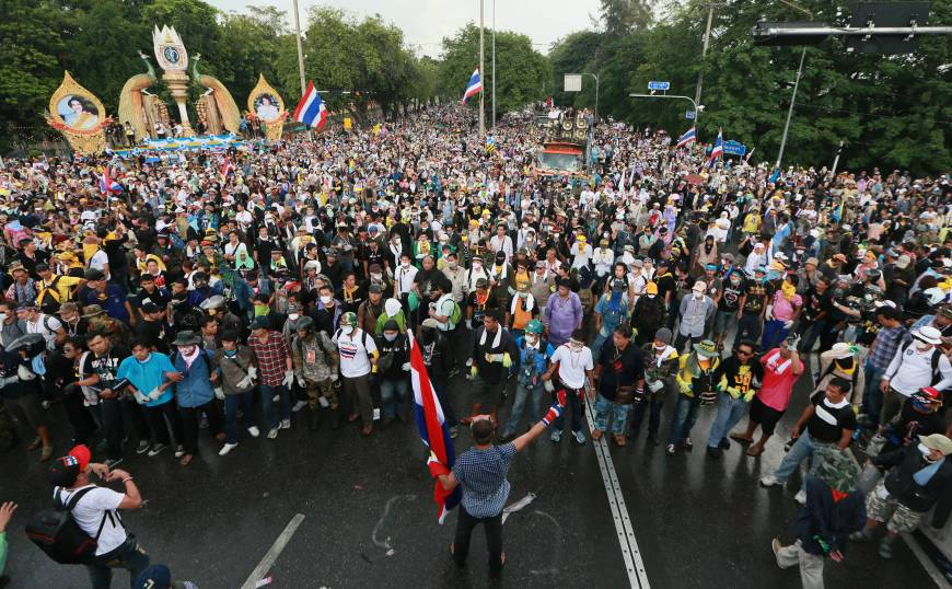 Thai capital rocked by biggest protests since '10 unrest