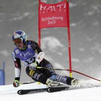 Status unclear: Lindsey Vonn, seen here in a World Cup race in February, was injured in a training accident on Tuesday in Copper Mountain, Colorado. | AP