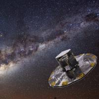 Watch this space: An artist's impression shows the Gaia space observatory, which is scheduled to be launched by the European Space Agency on Dec. 20. The mission aims to compile an extraordinarily precise 3-D map of the Milky Way | WIKIPEDIA