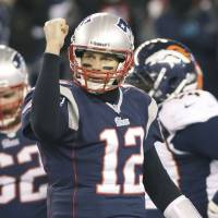 Tom Terrific: Tom Brady is letting it all hang out on the field.   AP