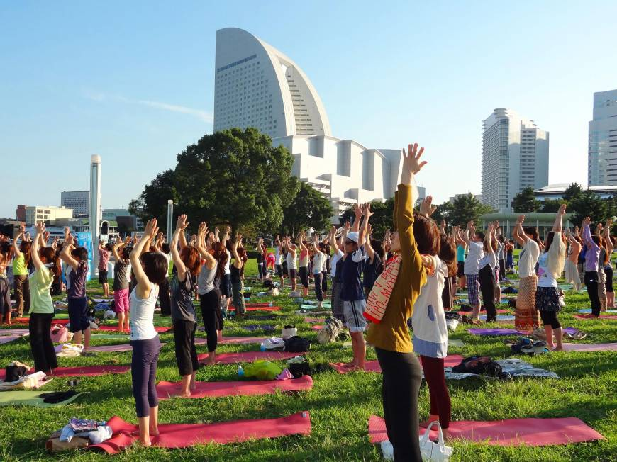 Yoga practitioners moving to the next level