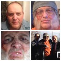 Cosplay: A combination of photos taken Nov. 24 show David Musselman, a bishop for The Church of Jesus Christ of Latter-day Saints in Taylorsville, Utah, who had a makeup artist transform him to appear homeless.   AP