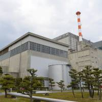 Tax factor: Japan Atomic Power Co.'s power plant in the village of Tokai, Ibaraki Prefecture, is seen in May. | KYODO