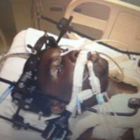 Blinking is believing: Melvin Pate is seen blinking to identify his shooter in a screen grab from a video released by the office of Maryland's state attorney. Pate was shot and left paralyzed, but he was able to ID the suspect by blinking his eyes during a police lineup | THE WASHINGTON POST
