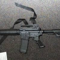Exhibit A: A Bushmaster XM15-E2S semiautomatic 5.56 mm rifle found inside Sandy Hook Elementary School in Newtown, Connecticut, is seen in an image contained in a report released Monday on the December 2012 shooting at the school that left 20 first-graders and six educators dead. | AP