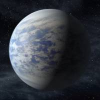 Far-off place: This artist's rendition shows Kepler 69-c, a super-Earth-size planet in the habitable zone of a star like our sun, located about 2,700-light-years from Earth in the constellation Cygnus | AP