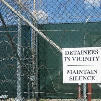 Silence lifted: A sign is posted inside Camp VI of the Guantanamo Bay prison in Cuba in October 2010. On Thursday, Al Jazeera America published part of the secret personal diaries of one of Gitmo's most high-profile prisoners | AFP-JIJI