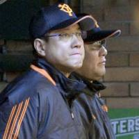 Disappointing finish: Giants manager Tatsunori Hara watches his team loses its final game of 2013 | KYODO