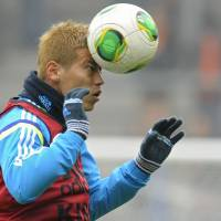 Bring it on: Keisuke Honda believes Japan has nothing to fear against top-class sides like Belgium and the Netherlands. | AFP-JIJI