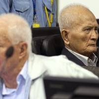 Cambodia's aging, last Khmer Rouge defendants deny genocide charge in tribunal