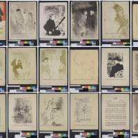 Nazi loot: A Monday combo of handout photos released online by German prosecutors in Augsburg shows 18 works by French artist Henri de Toulouse-Lautrec that are part of 1,400 treasured artworks, found in a Munich flat last year, 'for which there is strong suspicion that they were seized as part of Nazi persecution.' | STAATSANWALTSCHAFT AUGSBURG/<A HREF=