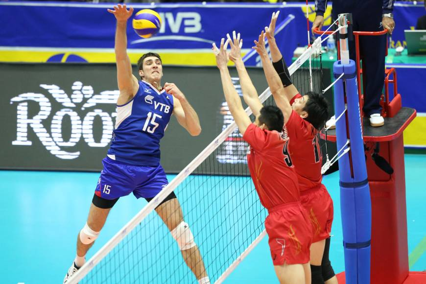 Russia spikers dominate Japan in FIVB Men's Grand Champions Cup