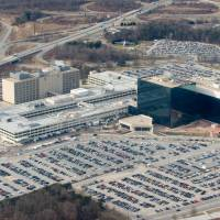 Omnipresent: The headquarters of the National Security Agency in Fort Meade, Maryland, are seen from the air in January 2010.  | AFP-JIJI