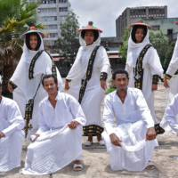 Participants in The Ethiopian National Cultural Troupe, which comes to Japan this month.