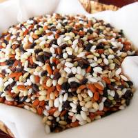 Grain of hope: A mix of organically grown ancient and white rices, which some farmers are using to boost trade.   MAKIKO ITOH