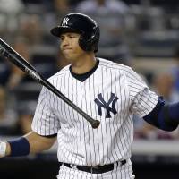 I'm not going away: Alex Rodriguez struck out against the Angels in August, but he hit a home run against MLB by successfully playing out the season despite being handed a 211-game suspension in the Biogenesis scandal. | AP