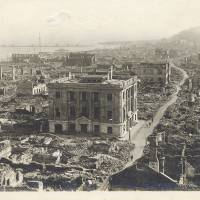 Wide spread: The destruction from the Great Kanto Earthquake was not limited to Tokyo, as can be seen by this image of Yokohama taken shortly after the Sept. 1, 1923 Disaster. | KYODO