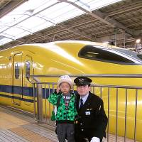 Training day: A boy poses for a photo after his wish was granted by Make-a-Wish of Japan.   COURTESY OF MAKE-A-WISH JAPAN